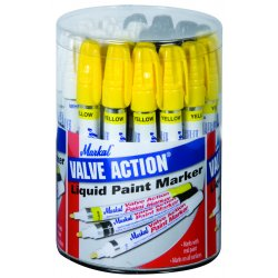 Markal - 96080 - Valve Action Paint Mkr Dsp 10wht- 10blk- 10ylw