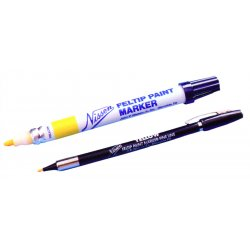 "Nissen - 00370 - Nissen White Feltip Fine Line Paint Marker With 3/64"" Wide Point"