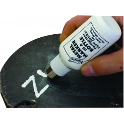 "Nissen - 00426 - Nissen Orange Stainless Steel Ball Point Metal Bottle Paint Marker With 1/8"" Wide Point"