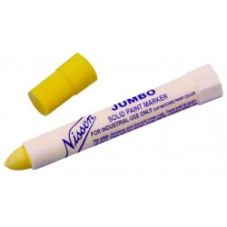 """Nissen - 01300 - Nissen White Paint Marker With 5/16"""" Wide Point (Carded)"""