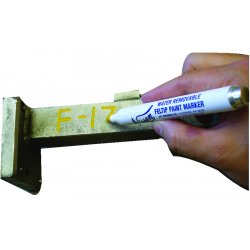 "Nissen - 06003 - Nissen Red Feltip Water Removable Paint Marker With 1/8"" Wide Point"