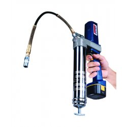 Lincoln Industrial - 1244 - 12.0 Volt Cordless Grease Gun, 6000 psi Strokes per oz., Cartridge, Bulk, Suction Loading, Flex Hose
