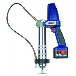 Lincoln Industrial - 1444 - 14.4 Volt Cordless Grease Gun, 7500 psi, 50.0 Strokes per oz., Cartridge, Bulk, Suction Loading, Fle