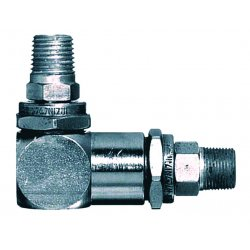 "Lincoln Industrial - 81974 - 1/2""-27 Male X 1/4""npt Male Swivel W/90deg.ang, Ea"