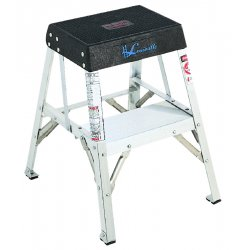 "Louisville Ladder - AY8002 - Aluminum Step Stool, 24"" Overall Height, 300 lb. Load Capacity, Number of Steps 2"