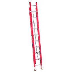 Louisville Ladder - FE3224 - Extension Ladder, Fiberglass, IA ANSI Type, 24 ft.