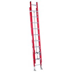 "Louisville Ladder - FE7640 - Plate Connect Extension Ladder, Fiberglass, IA ANSI Type, 20 ft. 4"" Ladder Height"