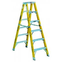 Louisville Ladder - FM1112HD - 12 ft. 375 lb. Load Capacity Fiberglass Twin Stepladder