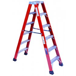 Louisville Ladder - FM1416HD - 16 ft. 375 lb. Load Capacity Fiberglass Twin Stepladder