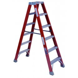 Louisville Ladder - FM1506 - Louisville FM1500 Series 6' 300 lb Non-Conductive Fiberglass Type IA Double Sided Twin Front Ladder