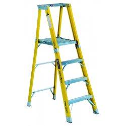 """Louisville Ladder - FP1104HD - Fiberglass Platform Stepladder, 3 ft. 11"""" Ladder Height, 3 ft. 10"""" Platform Height, 375 lb."""