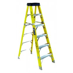 Louisville Ladder - FS1112HD - 12 ft. 375 lb. Load Capacity Fiberglass Stepladder