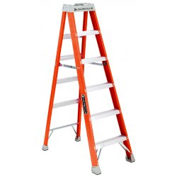 "Louisville Ladder - FS1506 - Louisville Davidson Ladders 6' Fiberglass IA Step Ladder - 5 Step - 300 lb Load Capacity - 72"" - Orange"