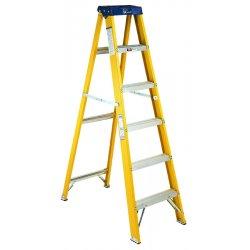 Louisville Ladder - FS2006 - Stepladder, Fiberglass, 6 ft. H, 250 lb Cap
