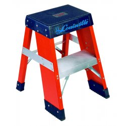 "Louisville Ladder - FY8002 - Fiberglass Step Stool, 24"" Overall Height, 300 lb. Load Capacity, Number of Steps 2"