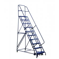 Louisville Ladder - GSW2406 - 6-Step Rolling Ladder, Perforated Step Tread, 96 Overall Height, 450 lb. Load Capacity