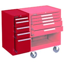 "Kennedy - 185R - Red Side Cabinet, 13-5/8"" Width x 18"" Depth x 29"" Height, Number of Drawers: 5"
