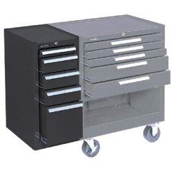 Kennedy - 205XB - 00624 Hang-on Cabinet 5-drawer Brown W/b.b.slide