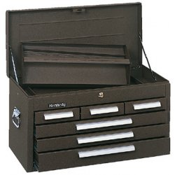 "Kennedy - 266B - Brown Top Chest, 26-1/8"" Width x 12-1/8"""" Depth x 14-3/4"" Height, Number of Drawers: 6"
