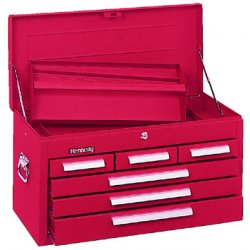 "Kennedy - 266R - Red Top Chest, 26-1/8"" Width x 12-1/8"""" Depth x 14-3/4"" Height, Number of Drawers: 6"
