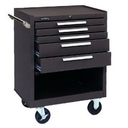 "Kennedy - 275R - Red Rolling Cabinet, Industrial, Heavy Duty, Width: 27"", Depth: 18"", Height: 35"""