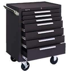 "Kennedy - 277B - Brown Rolling Cabinet, Industrial, Heavy Duty, Width: 27"", Depth: 18"", Height: 35"""