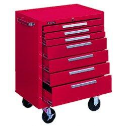 """Kennedy - 277R - Red Rolling Cabinet, Industrial, Heavy Duty, Width: 27"""", Depth: 18"""", Height: 35"""""""