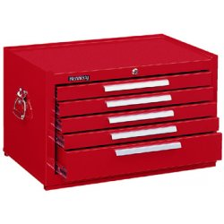 "Kennedy - 285R - Red Top Chest, 27"" Width x 18"" Depth x 16-5/8"" Height, Number of Drawers: 5"