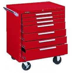 "Kennedy - 297R - Red Rolling Cabinet, Industrial, Heavy Duty, Width: 29"", Depth: 20"", Height: 35"""
