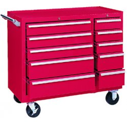 "Kennedy - 310XR - Red Rolling Cabinet, Industrial, Heavy Duty, Width: 39-3/8"", Depth: 18"", Height: 35"""
