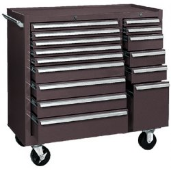 "Kennedy - 315XB - Brown Rolling Cabinet, Industrial, Width: 39-3/8"", Depth: 18"", Height: 39"""