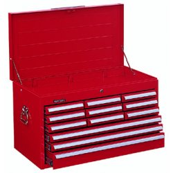 Kennedy - 3412XR - 00859 Mech. 12 Drawer Chest W/tubular Lock Red