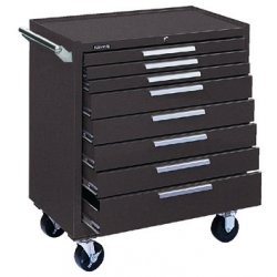 "Kennedy - 348XB - Brown Rolling Cabinet, Industrial, Width: 34"", Depth: 20"", Height: 40"""