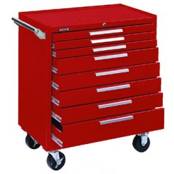 "Kennedy - 348XR - Red Rolling Cabinet, Industrial, Width: 34"", Depth: 20"", Height: 40"""