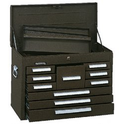 """Kennedy - 360B - Brown Top Chest, 26-1/8"""" Width x 12-1/8"""" Depth x 18-7/8"""" Height, Number of Drawers: 10"""