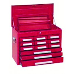 "Kennedy - 360R - Red Top Chest, 26-1/8"" Width x 12-1/8"" Depth x 18-7/8"" Height, Number of Drawers: 10"