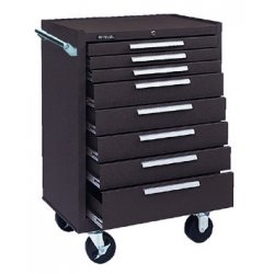 "Kennedy - 378XB - Brown Rolling Cabinet, Industrial, Heavy Duty, Width: 27"", Depth: 18"", Height: 39"""