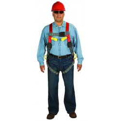 MSA - 10070440 - MSA X-Large ArcSafe Vest Style Harness With Qwik-Fit Leg Strap Buckle And Back, Hip And Belay Web Loop, ( Each )