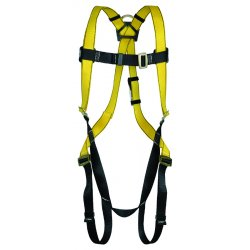 MSA - 10072479 - MSA Standard Workman Full Body Style Harness With Qwik-Fit Chest And Leg Strap Buckle And Back D-Ring, ( Each )