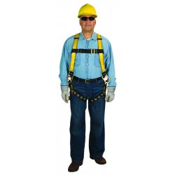 MSA - 10072486 - MSA X-Small Workman Full Body Style Harness With Qwik-Fit Chest Strap Buckle, Tongue Leg Strap Buckle And Back D-Ring, ( Each )
