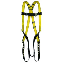 MSA - 10072491 - MSA Standard Workman Full Body Style Harness With Qwik-Fit Chest Strap Buckle, Tongue Leg Strap Buckle And Back And Hip D-Ring, ( Each )
