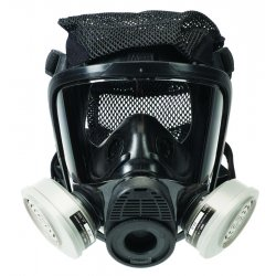 MSA - 10083781 - MSA Medium Hycar Advantage 4000 Full Face Twin Port Facepiece With Nosecup, Bayonet Adapters In Lens And Net Head Harness (For Use With Advantage 4100 Full Facepiece Respirator)