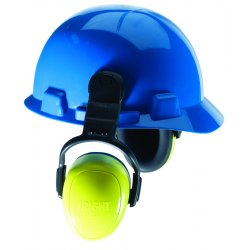MSA - 10087429 - 25dB Hard Hat Mounted Ear Muffs, Blue&#x3b; ANSI S3.19-1974, CSA Class A and EN352-3