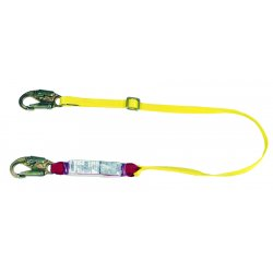 MSA - 10088265 - MSA 4' Sure-Stop 1 3/4' Nylon Web Twin-Leg Shock-Absorbing Adjustable Lanyard With 36C Harness Connection And (2) 36C Anchorage Connection, ( Each )