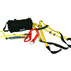 MSA - 10092167 - MSA Workman Fall Protection Kit (Includes Standard Size Vest-Style Harness With Tongue Buckle Leg Straps, Workman Shock-Absorbing Single-Leg Adjustable Lanyard, PointGuard Anchor Strap And Duffel Bag), ( Each )