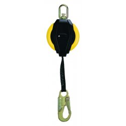 MSA - 10093350 - MSA 12' Workman Web Self-Retracting Personal Fall Limiter With 1' Steel Carabiner PFL Connection And LC Snap hook Lifeline Connection, ( Each )