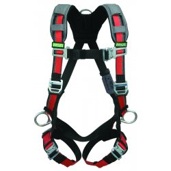MSA - 10105931 - Universal Construction Full Body Harness, 5000 lb. Tensile Strength, 400 lb. Weight Capacity, Red