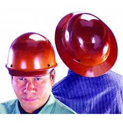 MSA - 454666 - MSA Yellow Skullgard Phenolic Full Brim Hard Hat With Staz On 4 Point Pinlock Suspension