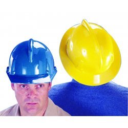 MSA - 475387 - MSA Yellow TopGard Polycarbonate Full Brim Hard Hat With Fas Trac Ratchet Suspension