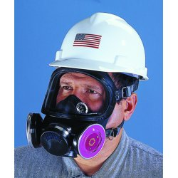 MSA - 480267 - Threaded Connection Full Face Respirator, 5 Point Suspension, L